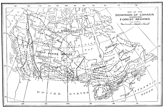 of the Dominion of Canada showing forest regions 1927
