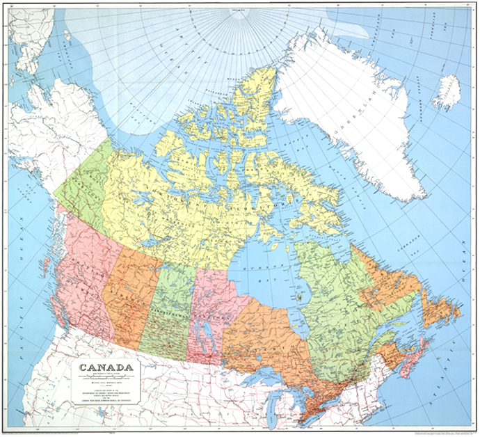 Map Of Canada Government Of Canada.Map Of Canada 1967
