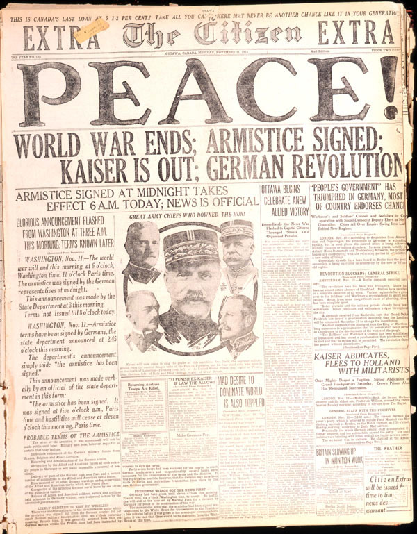 War Armistice World War Ends Armistice