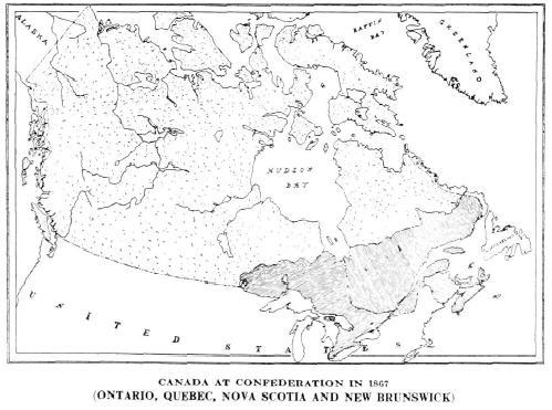 Map Of Canada Confederation.Canada At Confederation In 1867 Ontario Quebec Nova Scotia And