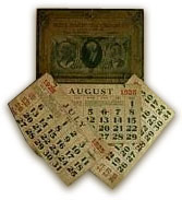 Photograph of an old calendar