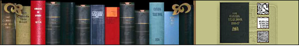 Banner: Browse collection by year. Image of the Canada Year Book spines in a book case with the cover of the selected Canada Year Book.
